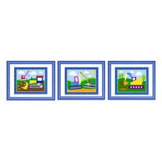 Olive Kids Under Construction Framed Print (Set of 3)   FB UNCT 308