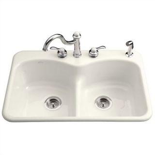 Kohler Langlade Smart Divide Self Rimming Kitchen Sink   K 6626 3