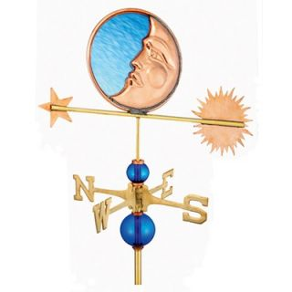 Good Directions Full Size Weathervane Stained Glass Moon
