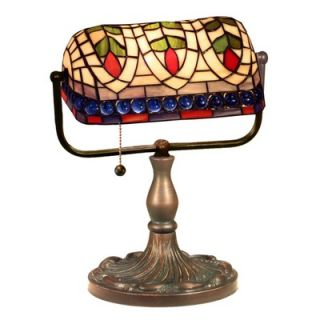 Warehouse of Tiffany Banker Blue Eyes Desk Lamp   KS20+MB50