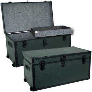 Seward Trunk Garrison Oversize Trunk in Olive Green with Black Binding