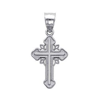Precious Stars 14k Gold Greek Orthodox Cross Pendant   LGPT 013910
