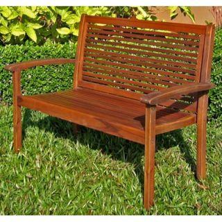 International Caravan Acacia Patio Wood Garden Bench