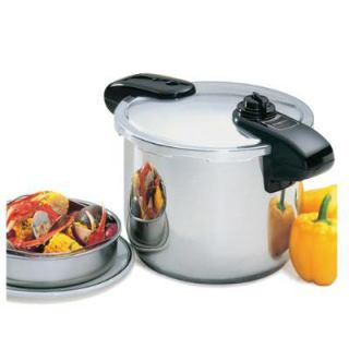 Presto 8 Quart Professional Pressure Cooker in Stainless Steel
