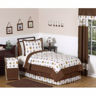 Sweet Jojo Designs Owl Full / Queen Bedding Set   OWL BU Q 3