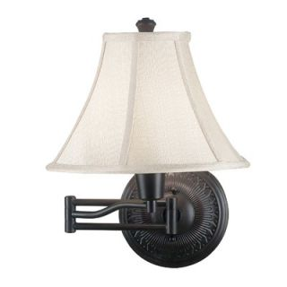 Kenroy Home Amherst Wall Swing Arm Lamp in Oil Rubbed Bronze Finish