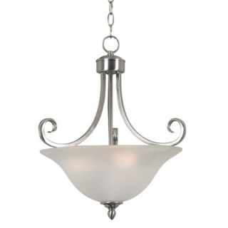 Kenroy Home Welles 3 Light Convertible Semi Flush Mount   80474BS