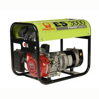 Pramac 3000 Watt Portable Gas Generator with Manual Start   ES 3000