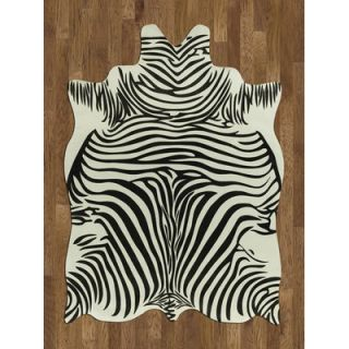 Acura Rugs Animal Hide White/Black Zebra Rug   NACS7 Zebra