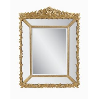 Bassett Mirror Decorative Leaf and Floret Patterned Rectangular Mirror