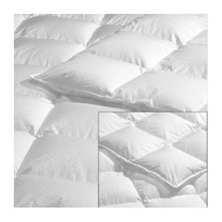 Highland Feather Goose Down Swiss Dots Hutterite Duvet in White
