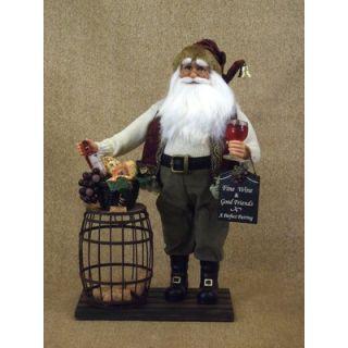 Karen Didion Crakewood Cork Collector Santa Figurine