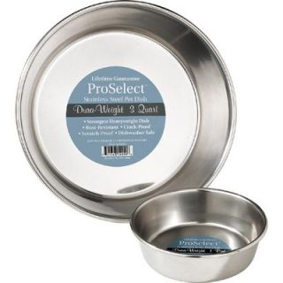 ProSelect Stainless Steel Dura   Weight Pet Bowl