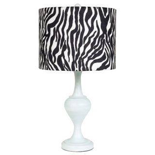 Jubilee Collection Curvature Large Table Lamp in Blue