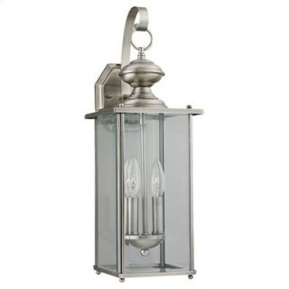 Sea Gull Lighting Jamestowne Outdoor Wall Lantern in Antique Brushed