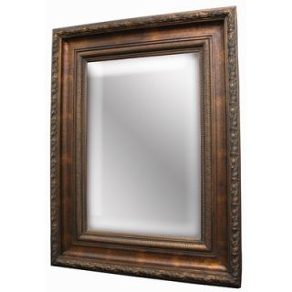 Imagination Mirrors Rustic Beauty Wall Mirror in Antique Cherry Gold