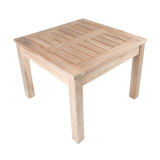 Arbora Teak Nantucket Solid Teak Square Side Table