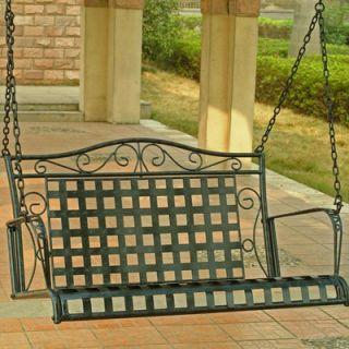 International Caravan Iron Patio Porch Swing