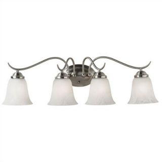 Kenroy Home Medusa 4 Light Vanity Light in Brushed Steel