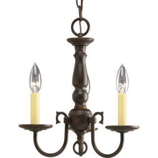 Progress Lighting Americana 3 Light Mini Candle Chandelier   P4354