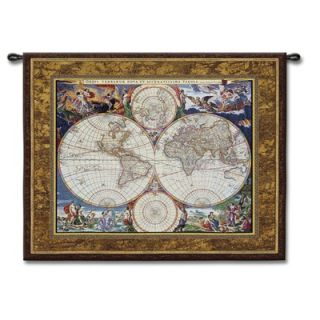 Fine Art Tapestries World Map   Studios, Acorn