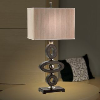 Eurofase Galliano One Light Table Lamp in Black / Brown / Antique