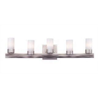 Philips Forecast Lighting Span 5 Light Vanity Light in Satin Nickel