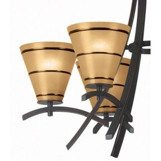 Kenroy Home Wright 6 Light Chandelier   90086ORB