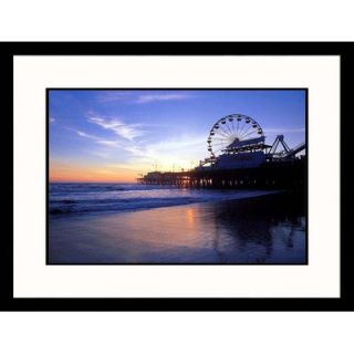 Great American Picture Santa Monica Pier Sunset Framed Photograph