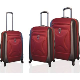 Travelers Polo & Racquet Club Cruz Embossed 3 Piece Hybrid Luggage Set