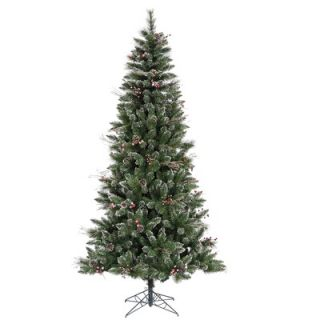 Vickerman 7 Snowtip Berry/Vine Artificial Christmas Tree