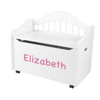 KidKraft Personalized Limited Edition Toy Box in White