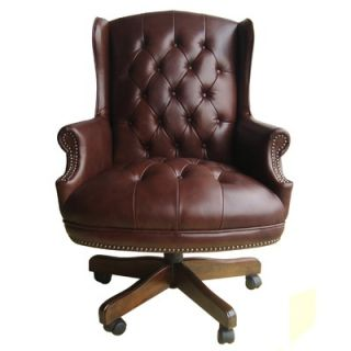 Office High Back Leather Executive Chair with Tufting   OC 175 BR