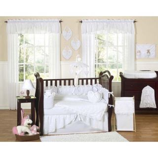 Sweet Jojo Designs White Eyelet 9 Piece Crib Bedding Set   Eyelet WH