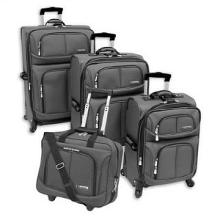 Leisure Luggage Lightweight 360 Collection 4 Piece Spinner Luggage Set
