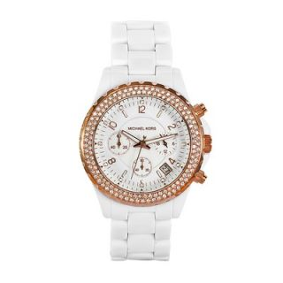 Michael Kors Womens White Acrylic Watch