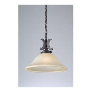 PLC Lighting Lexington 1 Light Pendant   15253 Antique Amber ORB