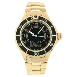 Dolce & Gabbana Womens Anchor Watch with Black Dial