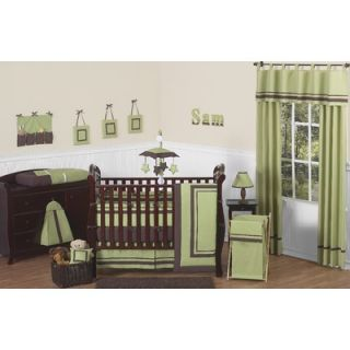 Sweet Jojo Designs Green and Brown Hotel Baby 9 Piece Crib Bedding Set
