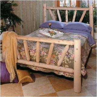 Rustic Cedar Sunburst Frame Slat Bed