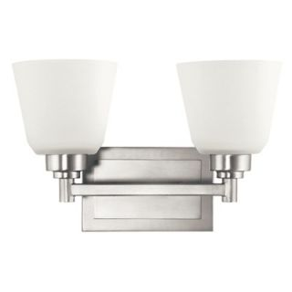 Kichler Berwick Two Vanity Light in Brushed Nickel