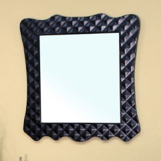 Bellaterra Home Dawes Solid Wood Framed Mirror in Black   203057B