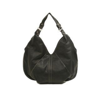 Piel Ladies Large Hobo Bag in Black   2764 BLK