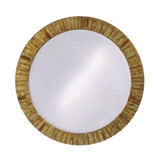 Howard Elliott Serenity Round Framed Mirror in Faux Marble