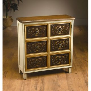 AA Importing Two Door Cabinet in Distressed Ivory