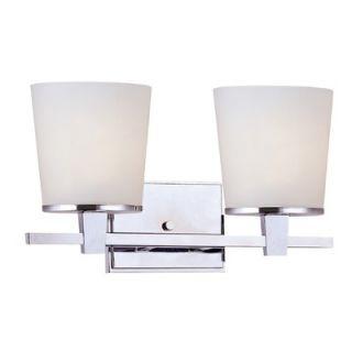 Dolan Designs Ellipse Two Light Bath Vanity in Chrome