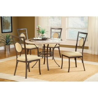 Hillsdale Harbour Point 5 Piece Round Dining Set with Metal Oval Chair