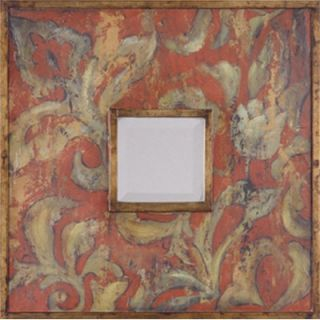 Uttermost Colorful Flowers Mirrors in Antiqued Gold   Set of 2