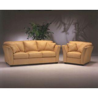 Omnia Furniture Manhattan 4 Seat Sofa Leather Living Room Set   MAN