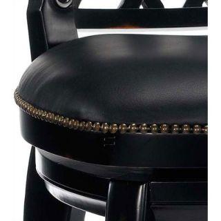 Hillsdale Braxton 30 Black Leather Swivel Bar Stool